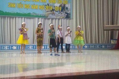 """Ngày 12/3/2019 Học sinh Trường th Nguyễn Văn Trỗi đã tham gia Hội thi """" Kỹ năng sử dụng Tiếng Anh"""" dành cho học sinh tiểu học năm học 2018-2019."""